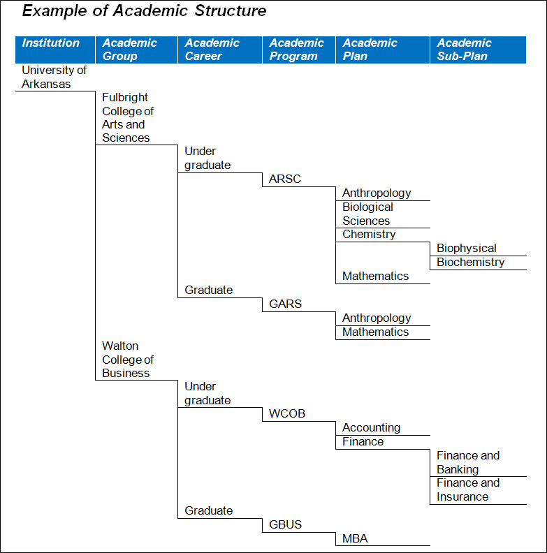 example of academic structure