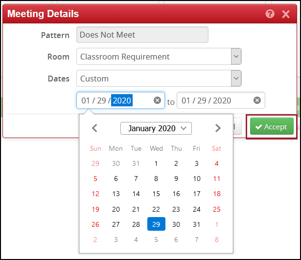 select dates for multiple dates