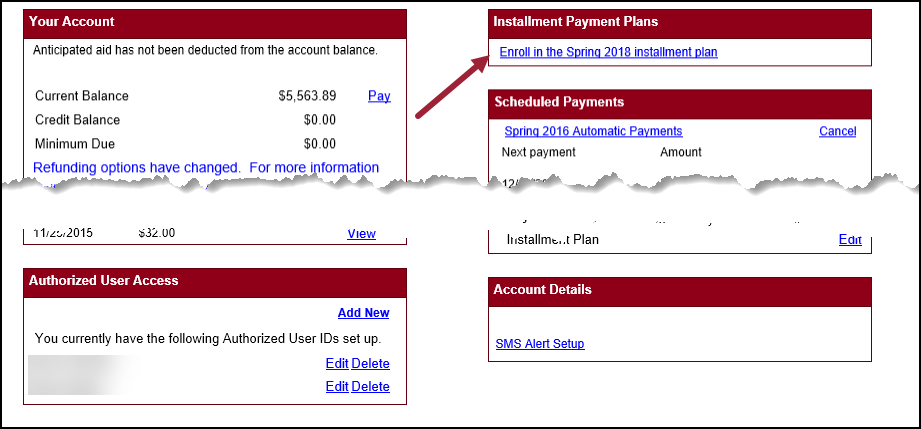 installment plan enrollment